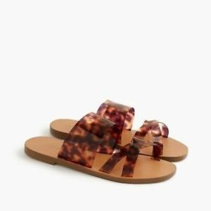 J. Crew Bali tortoise slides / sandal / pool shoes